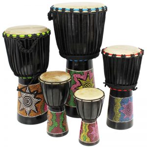 A selection of A-Star Djembe's