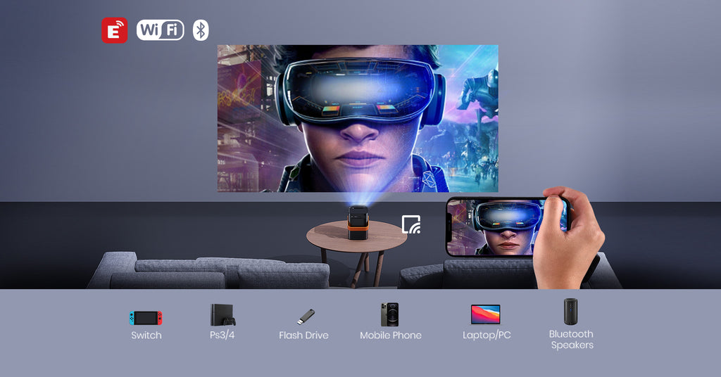 meauro projector work with smartphones, ps4