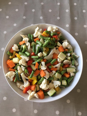 Homemade piccalilli ingredients