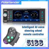1din Mp5 Player Touch Car Radio Bidirecional Interconexão RDS AM FM 4-USB 5.1 Polegadas Suporte Android 10 Mirrorlink Bluetooth