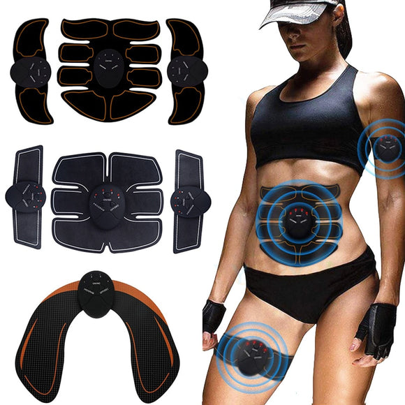Wireless EMS Muscle Stimulator ABS Abdominal Muscle Trainer Toner Body Fitness Hip Trainer Shaping Patch Sliming Trainer Unisex