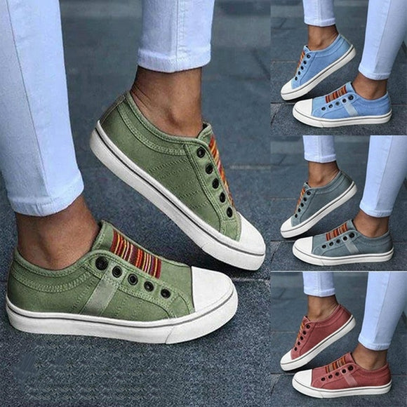 2021 Low-cut Trainers Canvas Flat Shoes Women Casual Vulcanize Shoes New Women Summer Autumn Sneakers Ladies WDHKUN
