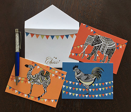 Gift Cards Bunting Elephants
