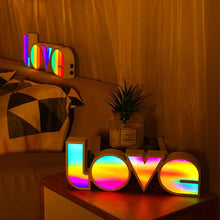 Load image into Gallery viewer, Multicolour love light