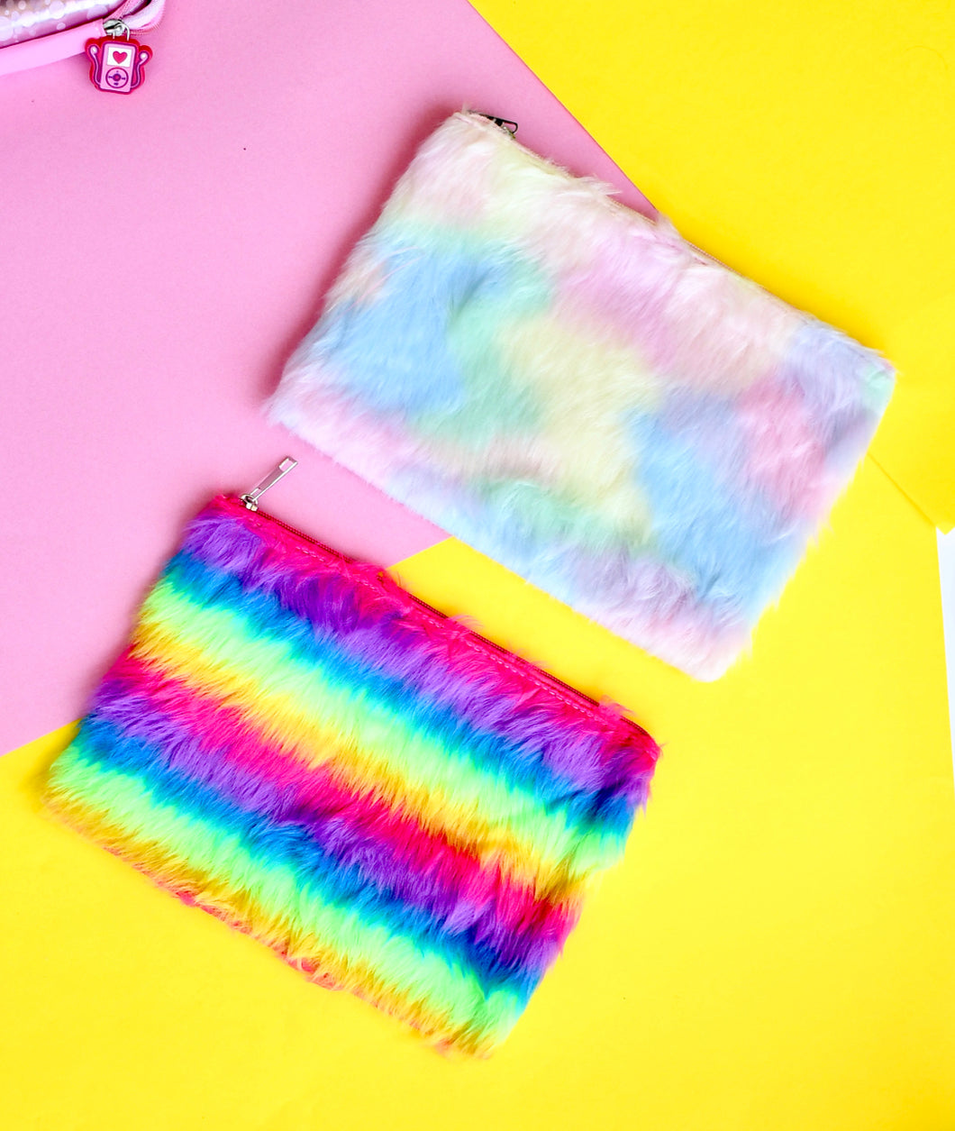 Multicolour pouch with zip