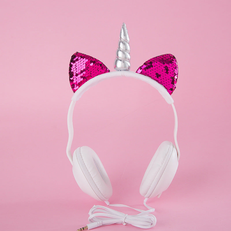 Wireless Unicorn headphones with glitter ears