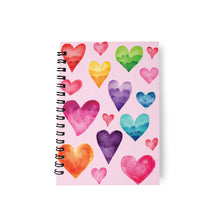 Load image into Gallery viewer, Notebook Journal Colourful Hearts