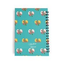 Load image into Gallery viewer, Monthly Planner Vintage Blue Flowers amp Hearts