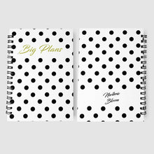 Load image into Gallery viewer, Monthly Planner White amp Black Polka Print