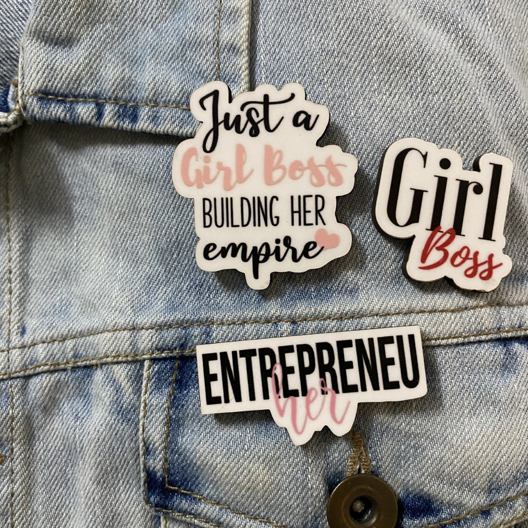 Girl Boss Empire Set of 3 PIN/BROOCH