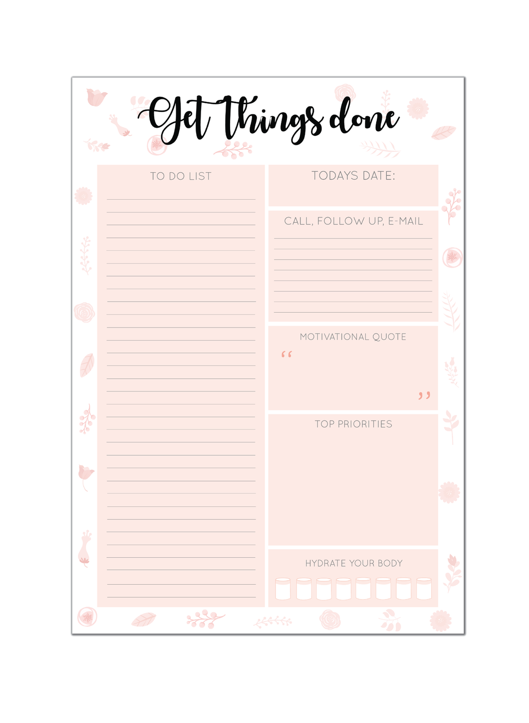Get Things Done Day Planner
