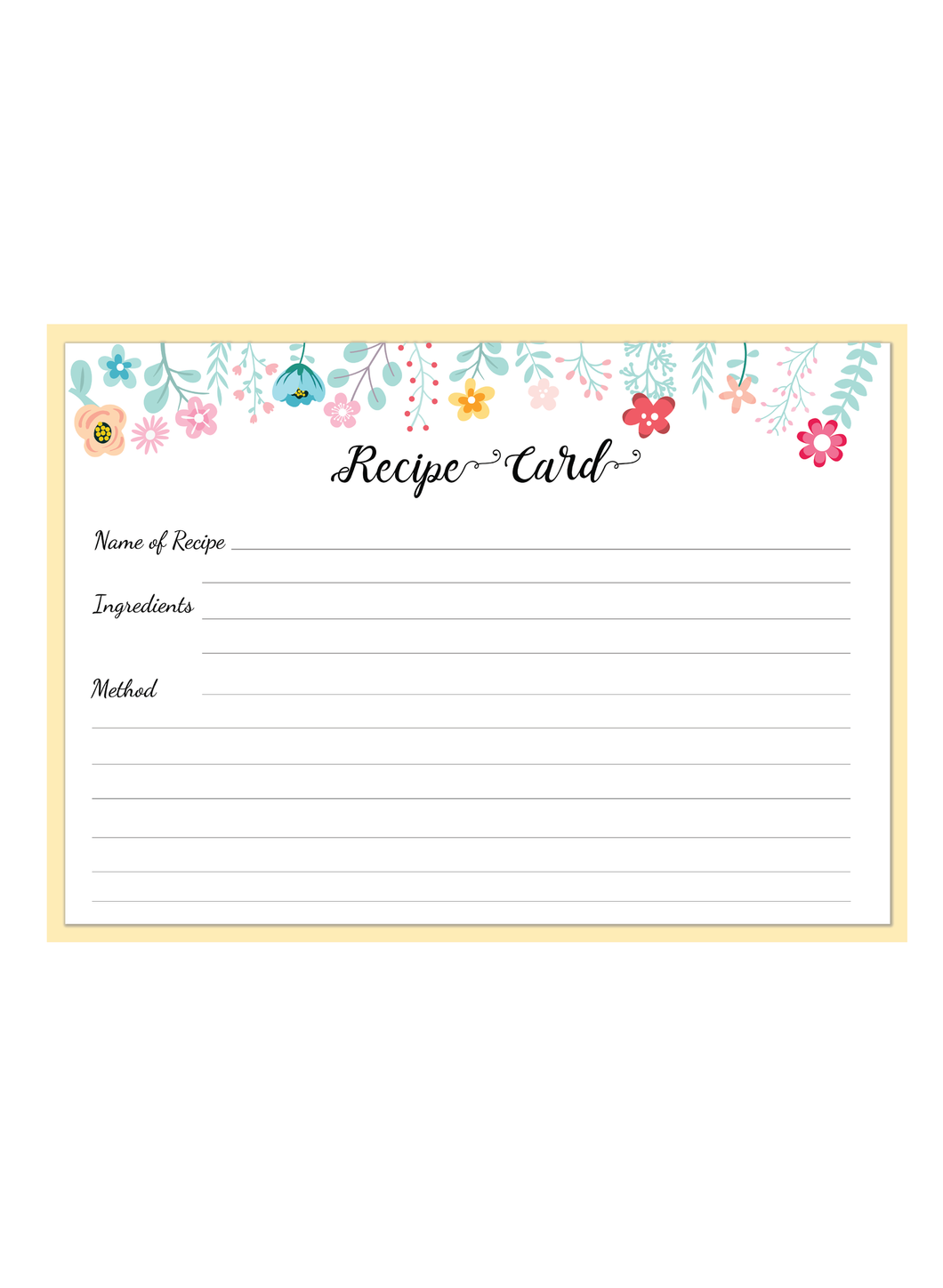 Recipe pad Cook with love Recipe pad A5 Size