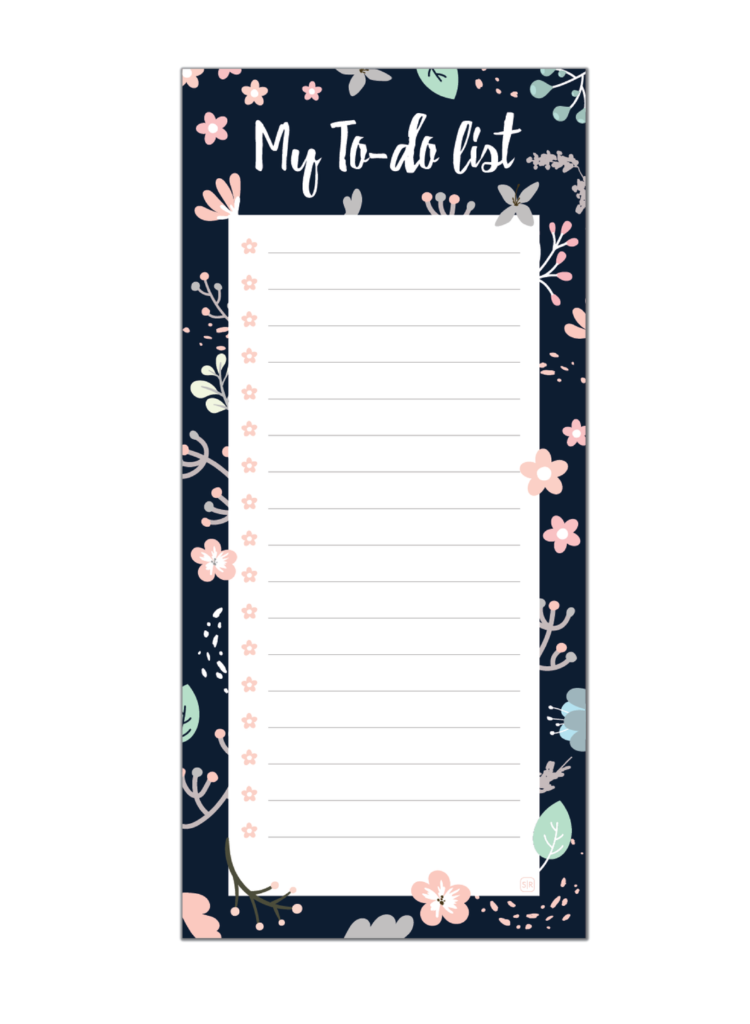 Imperial Floret To Do List Pad