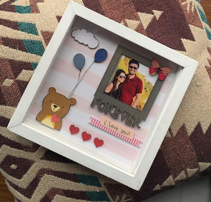 Personalised Shadow box : Design 2 (No COD)