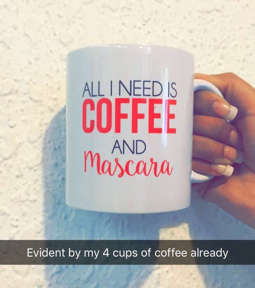 Coffee and Mascara Mug