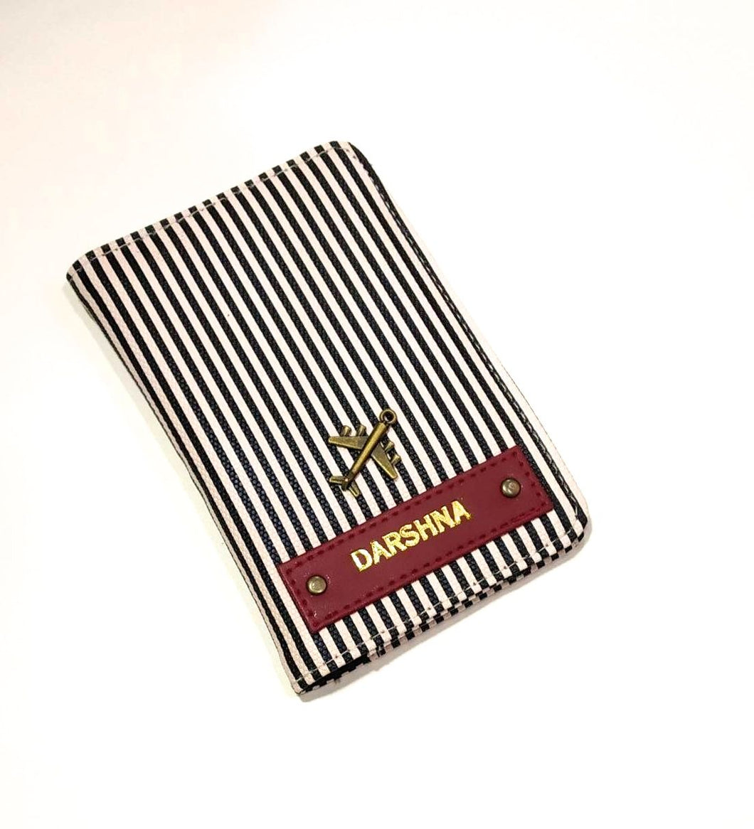 Personalized Striped Passport Cover (NO COD)