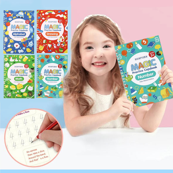 Children's Reusable Copybook Set