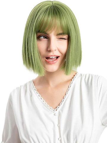 Natural Short Wig With Bangs