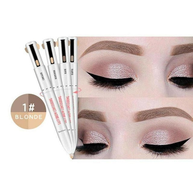 4-In-1 Four-Claw Waterproof Defining Highlighting Eyeliner & Eyebrow Pen