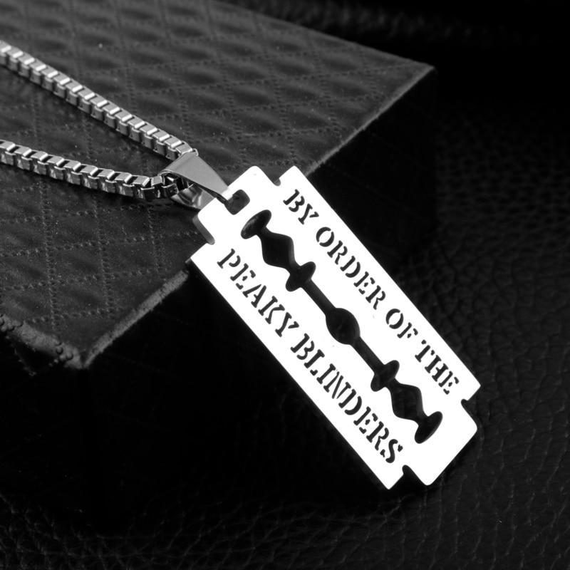 Razor Blade Necklace Peaky Blinders