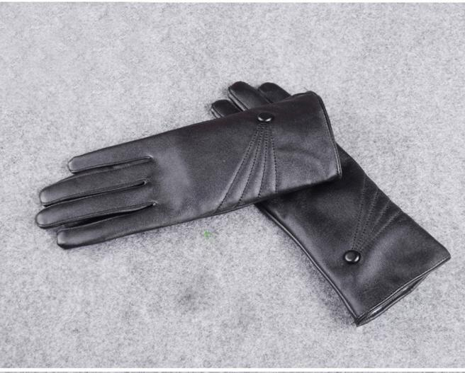 Women's Leather Cashmere Gloves