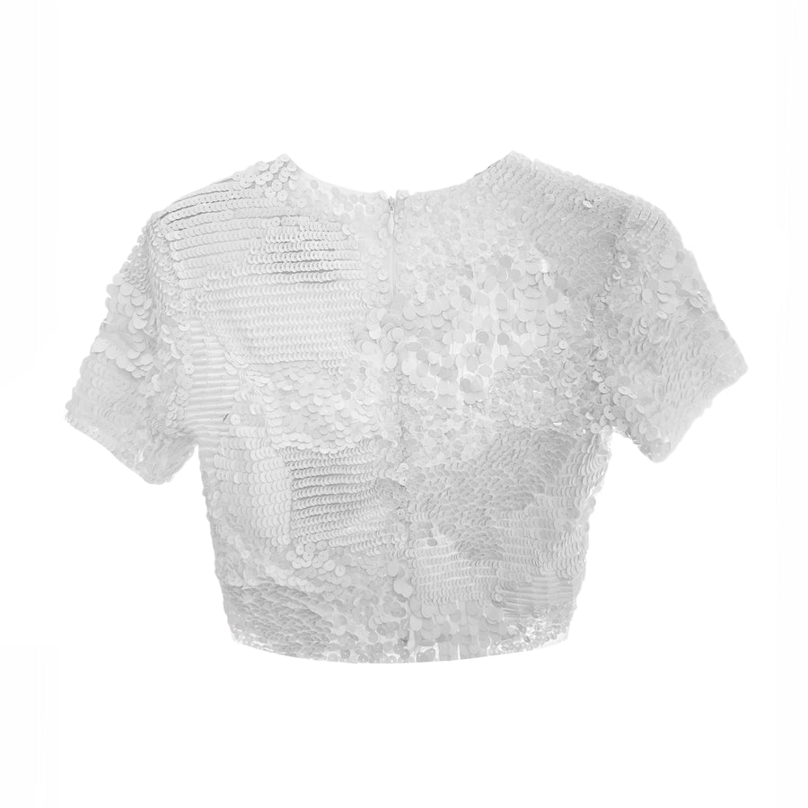 Crop-Top con paillettes Bonnie