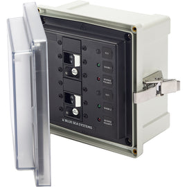 Blue Sea 3117 SMS Surface Mount System Panel Enclosure - 2 x 120V AC / 30A ELCI Main [3117]