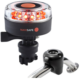 Navisafe Navilight All RED 360 2NM w/Navimount Base  Rail Mount - Black [045KIT]