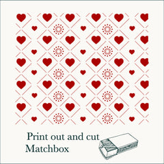 print and cut matchbox for valentines