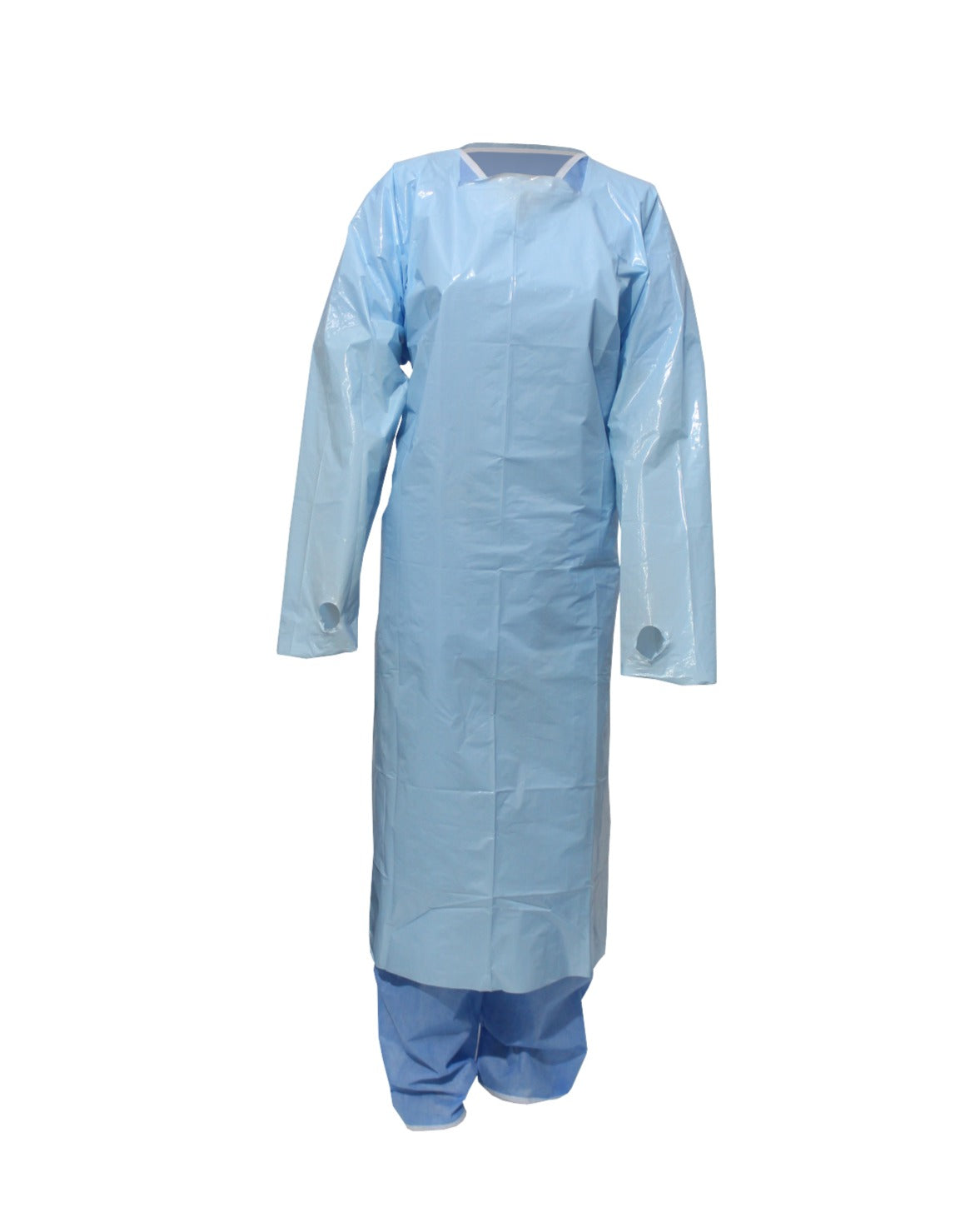 Thumb Loop Polythene Gown