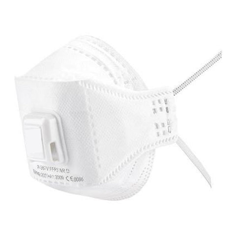 3 Part Fold Flat FFP3 Face Mask with Valve