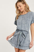 Load image into Gallery viewer, Acid Wash Denim Romper