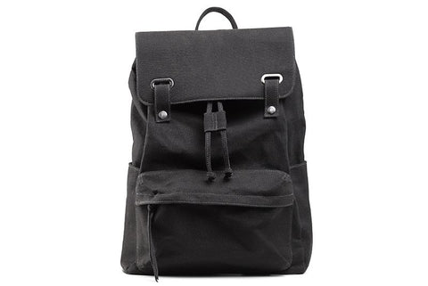 Ahimsa Vintage Backpack Black front