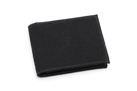 Ahimsa Zipped Wallet in Black (front)