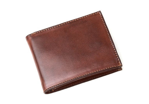 Ahimsa Zipped Wallet in Cognac (front)