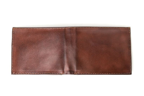 Ahimsa Zipped Wallet in Cognac (unfolded)