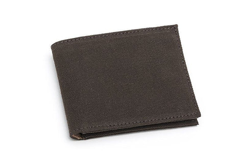 Ahimsa Zipped Wallet in Espresso (front)
