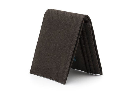 Ahimsa Zipped Wallet in Espresso (standing)