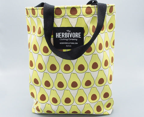 Avocado Tote by Herbivore Clothing Company (front)