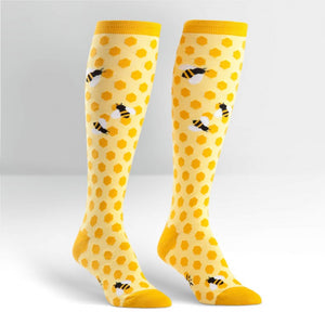Bees Knees Women's Socks by Sock it To Me - Compassionate Closet