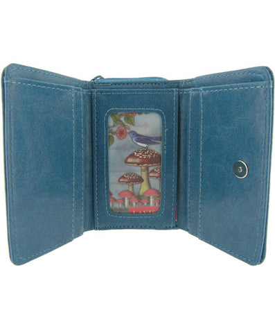 Lavishy 'Bird & Chandelier Vegan Leather Wallet Small'