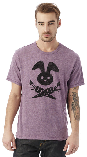 Bunny Cross-Carrots Unisex T-Shirt by Compassionate Closet