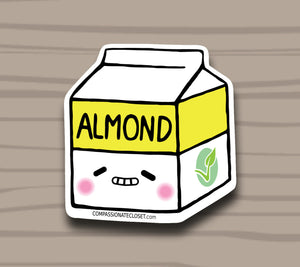 Almond Milk Sticker by Compassionate Closet - Compassionate Closet