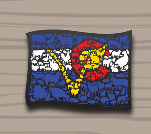 CO 'V' Animal Flag Sticker by Compassionate Closet - Compassionate Closet