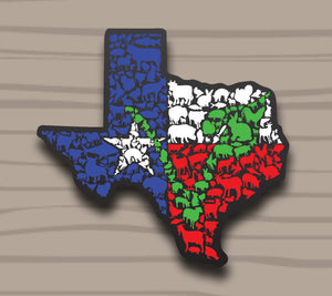 Texas 'V' Animal Sticker by Compassionate Closet - Compassionate Closet