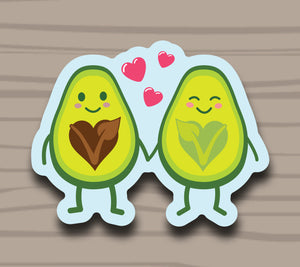 We Go Together Avocado Sticker by Compassionate Closet - Compassionate Closet