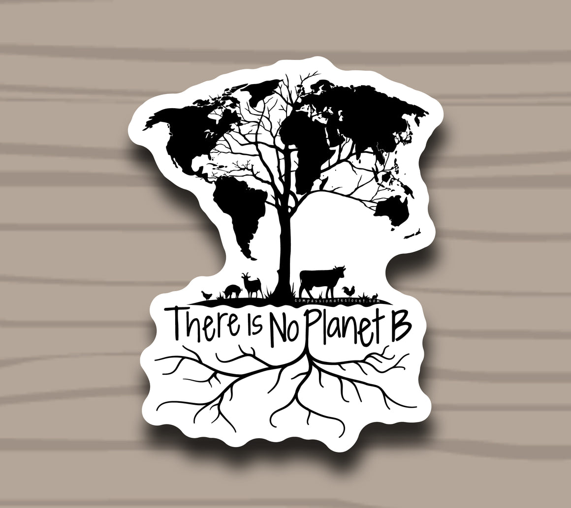 There Is No Planet B Sticker by Compassionate Closet - Compassionate Closet