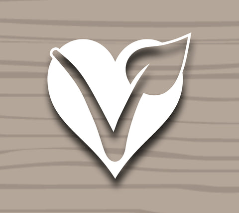 V Heart Sticker by Compassionate Closet - Compassionate Closet