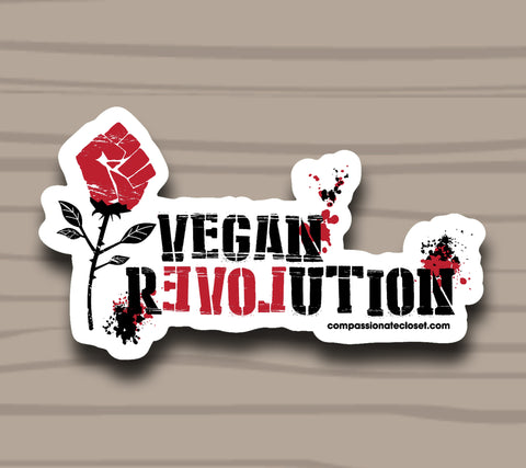 Vegan Revolution Sticker by Compassionate Closet - Compassionate Closet