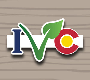 I V Colorado Sticker by Compassionate Closet - Compassionate Closet